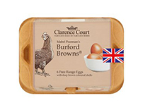 Clarence Court Burford Brown mixed weight British free range eggs