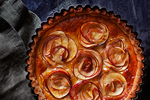 Apple & honey tart