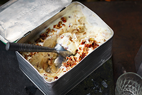 Pear & candied-pecan ice cream