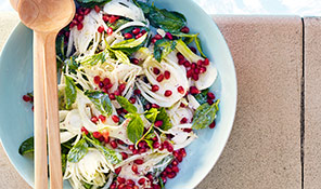 Shaved fennel salad with spiced yogurt
