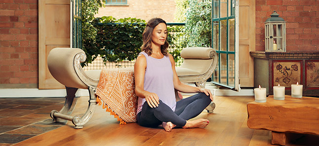Pippa Middleton meditating