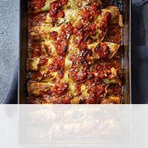 Ricotta & spinach pancake cannelloni