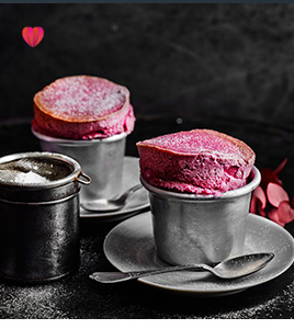 Blackberry soufflé
