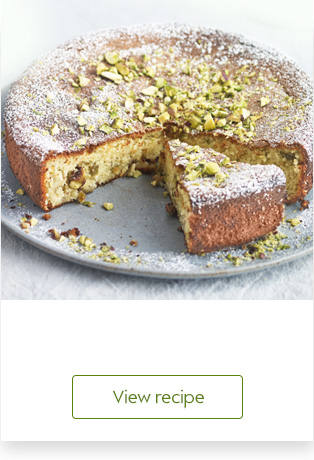 Gooseberry, pistachio and yogurt cake