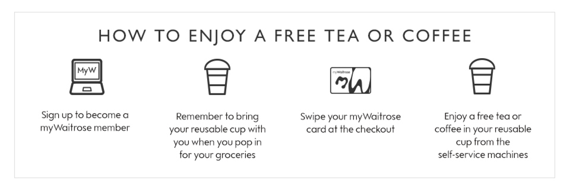 How to get a free tea or coffee
