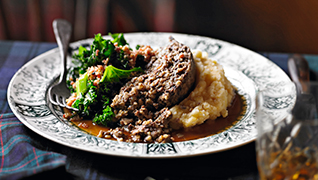 Traditional haggis with whisky gravy