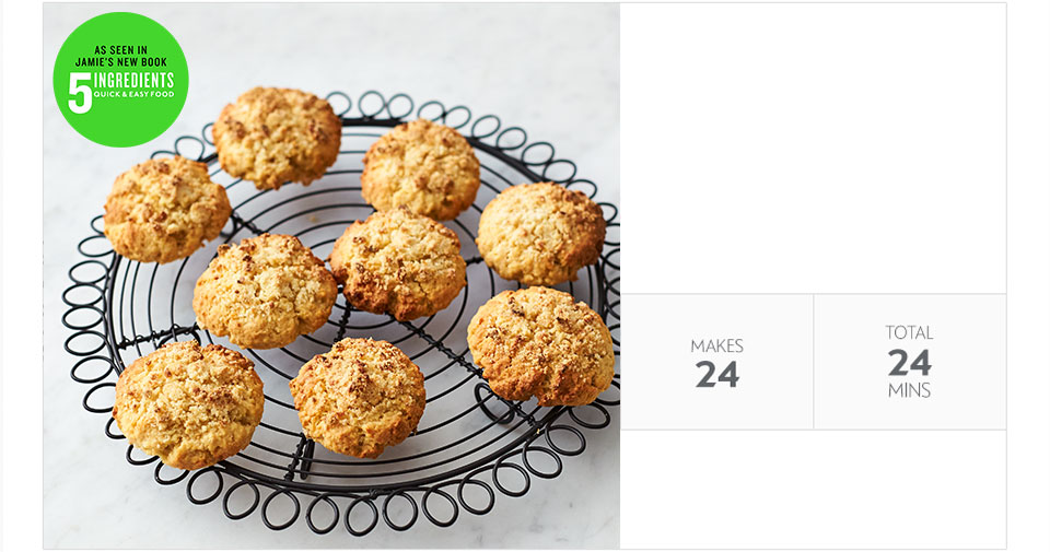 Jamie Oliver's apple crumble cookies