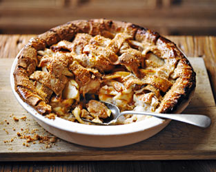 Martha's Toffee apple pie