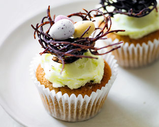 Martha Collison's Easter nest cupcakes