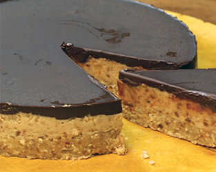 The Happy Pear's gluten free and dairy free chocolate & salted caramel tart