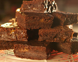 Salted caramel and ginger brownies