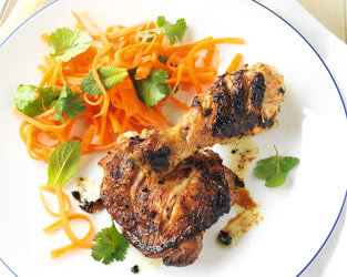 Vietnamese chicken with pickled carrot