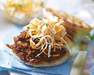 Heston's slow-cooked pulled pork with cabbage slaw