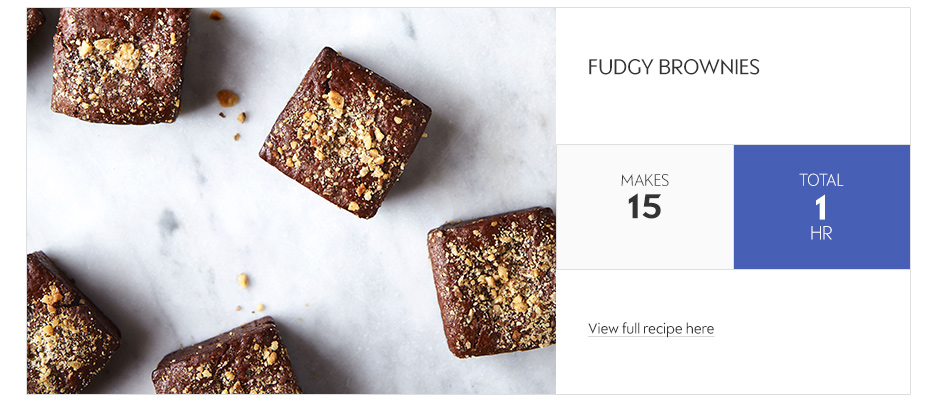 Deliciously Ella fudgy brownies