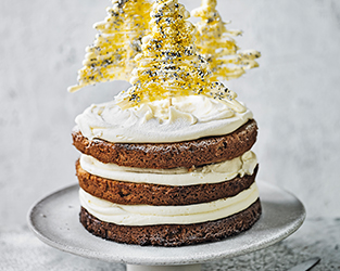 Martha Collison's Spiced rum and white chocolate Christmas cake