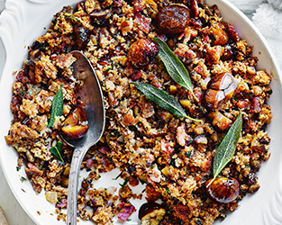 Sage, bacon and chestnut stuffing recipe