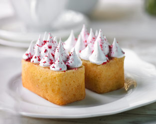 Heston's olive oil and raspberry cakes