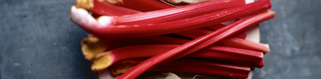 Crisp, firm and delicious rhubarb