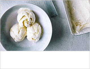 No-churn lime and ginger ice cream