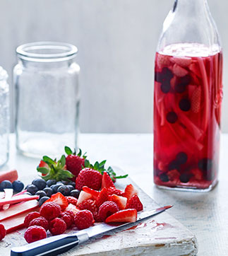 Berry and rhubarb gin recipe