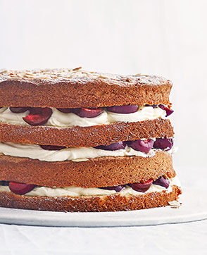 Cherry and almond cloud cake recipe