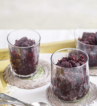 Blackberry and limoncello granita