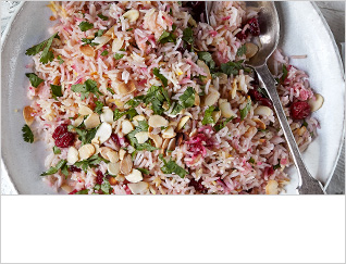 Cranberry and saffron rice pilaf