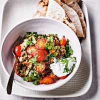Berbere lentils with cherry tomatoes