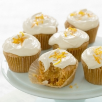 Carrot Cupcakes with Orange Zest