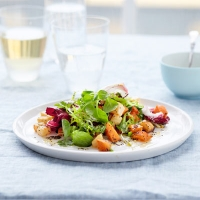 Celeriac and sweet potato salad