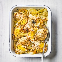 Chicken, fennel & orange traybake