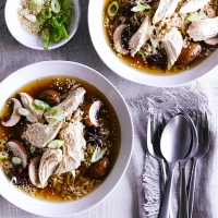 Ginger-soy poached chicken