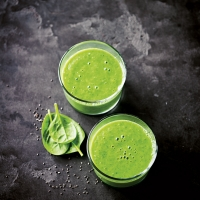 Green breakfast smoothie