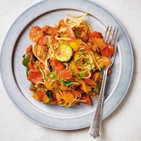 Grilled vegetable spaghetti