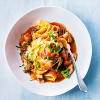 Italian braised chicken pasta