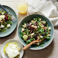 Pear and beetroot salad