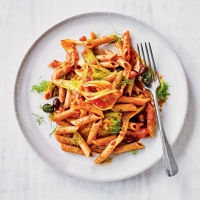 Penne with fennel & chargrilled vegetables