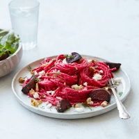 Roast beetroot spaghetti