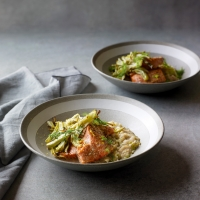 Salmon-&-fennel-with-cannellini-bean-mash