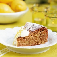 Santiago Almond Torte with Lemon Syrup