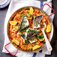 Sea bream paella