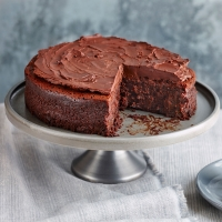 Sticky prune chocolate cake