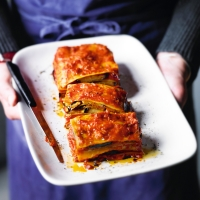 Vegetable lasagne loaf