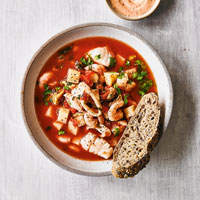 Winter fish soup with chilli aïoli