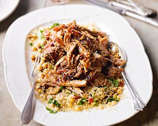 Moroccan slow roasted pork