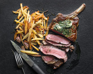 Waitrose 1 seared côte de boeuf with herb butter