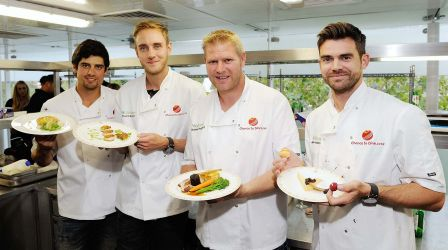Cricket stars battle it out in Chance to Dine 2014