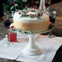 Christmas cake with mixed fruit