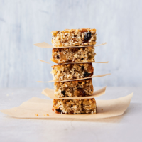Coconut, fruit & chia seed breakfast bars