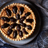 Date, bourbon and frangipane tart